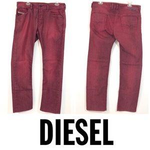 Diesel Men's Red Jeans Size 33